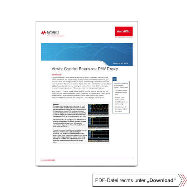Application Note 5991-2226EN | Viewing Graphical Results on a Truevolt DMM Display