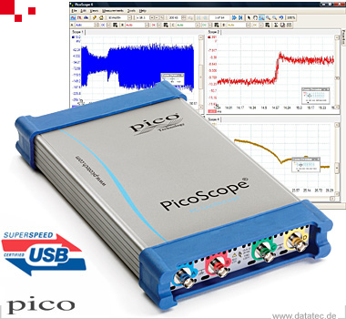 PicoScope 6403D | USB-Oszilloskop, DSO, 4-Kanal, 350 MHz, AWG (PP887)