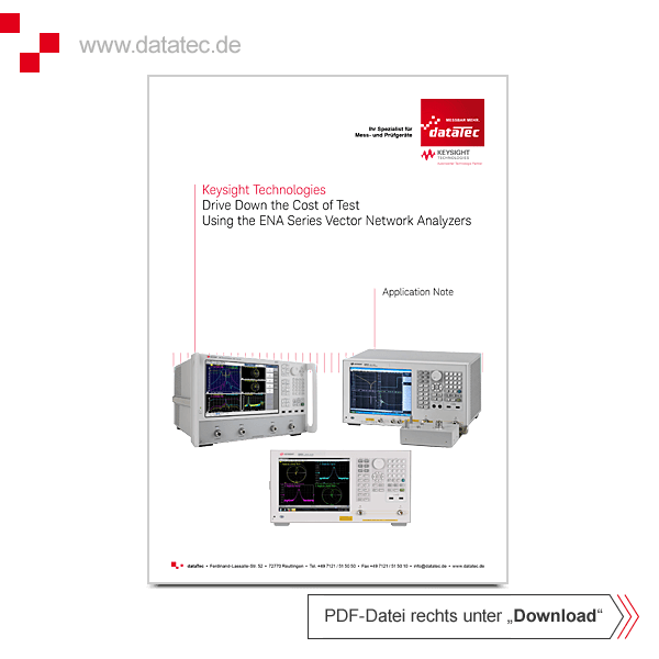 Application Note 5992-0195EN | Drive Down the Cost of Test Using the ENA-Series VNAs