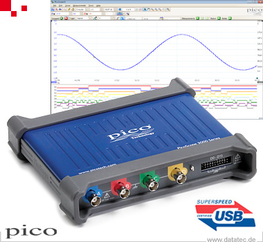 PicoScope 3404D MSO | USB-Oszilloskop, MSO, 4+16-Kanal, 70 MHz (PP934)
