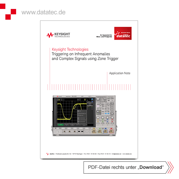 Application Note 5991-1107EN   Triggering on Infrequent Anomalies and Complex Signals using Zone Tri