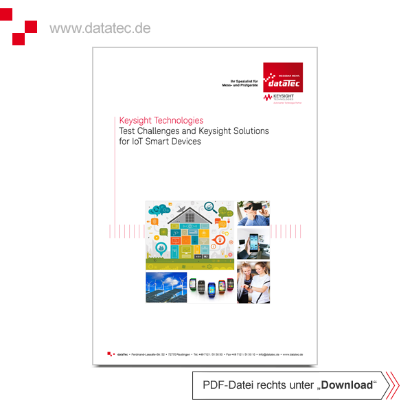 Broschüre 5992-1633EN | Test Challenges and Keysight Solutions for IoT Smart Devices
