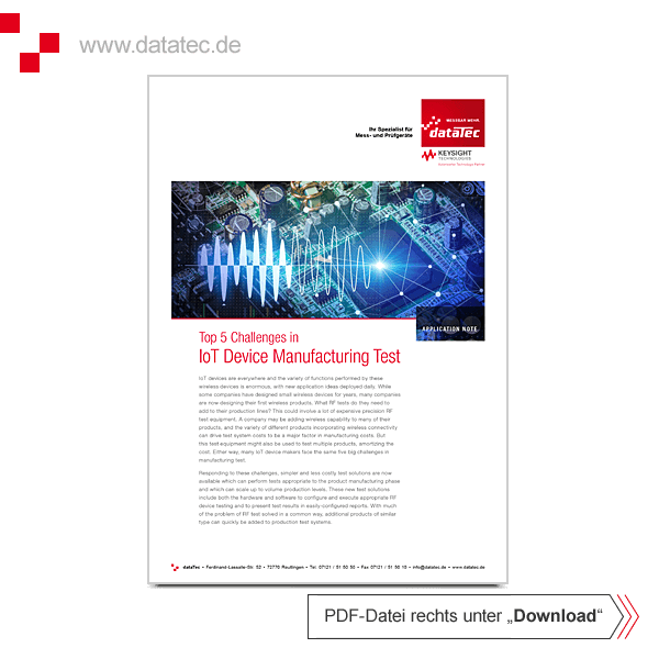 Application Note 5992-3008EN | IoT Device Manufacturing Test