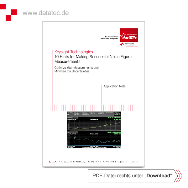 Application Note 5980-0288E | 10 Hints for Making Successful Noise Figure Measurements