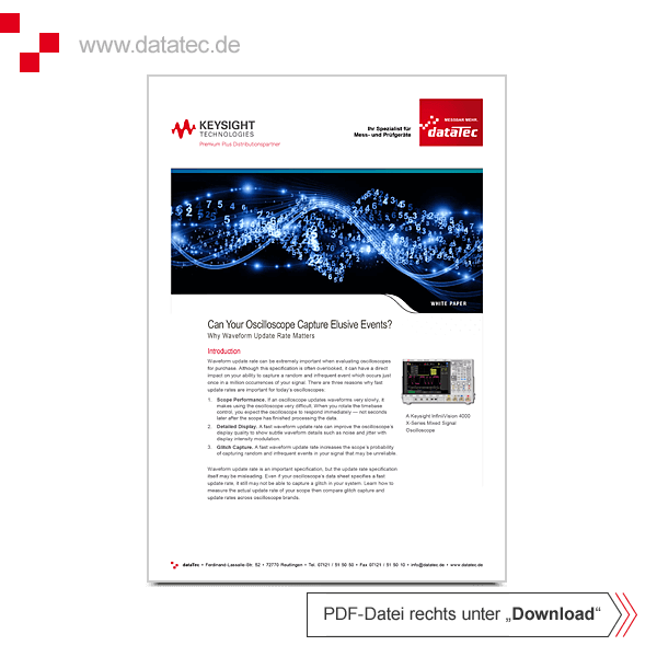 White Paper 5989-7885EN | Why Oscilloscope Waveform Update Rate Matters