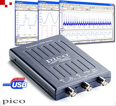PicoScope 2204A | USB-Oszilloskop, DSO, 2-Kanal, 10 MHz (PP906)
