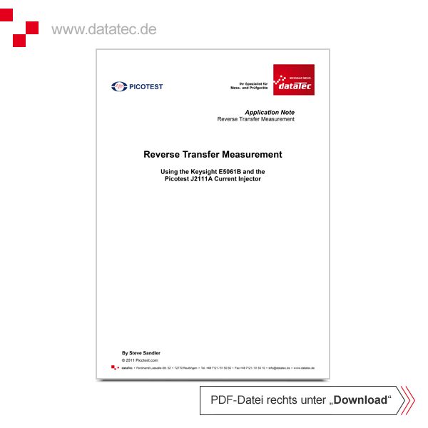 Application Note | Reverse Transfer Measurement