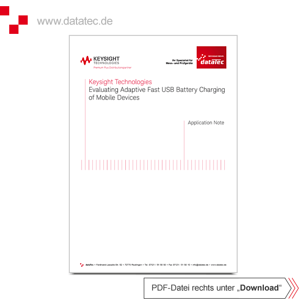 Application Note 5992-1072EN   Evaluating Adaptive Fast USB Battery Charging of Mobile Devices