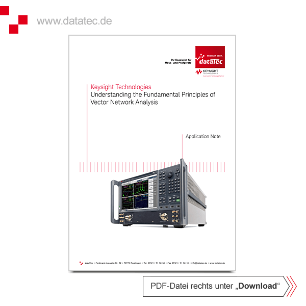 Application Note 5965-7707E | Understanding the Fundamental Principles of Vector Network Analysis