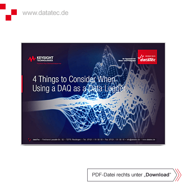 E-Book 5992-3179ENMY | 4 Things to Consider When Using a DAQ as a Data Logger