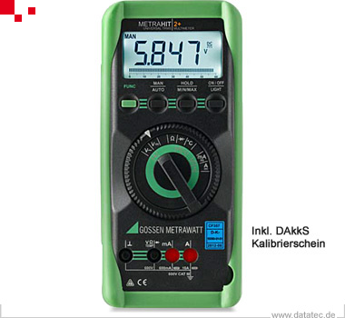 MetraHit 2+ | Multimeter, TRMS, 3 6/7, IP40 (M205A)
