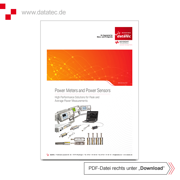 Brochure 5989-6240EN | Power Meters and Power Sensors