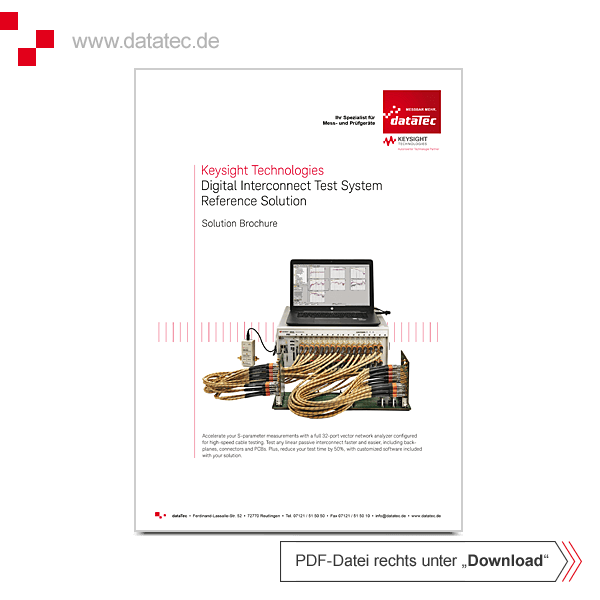 Solution Brochure 5992-1446EN | Digital Interconnect Test System Reference Solution