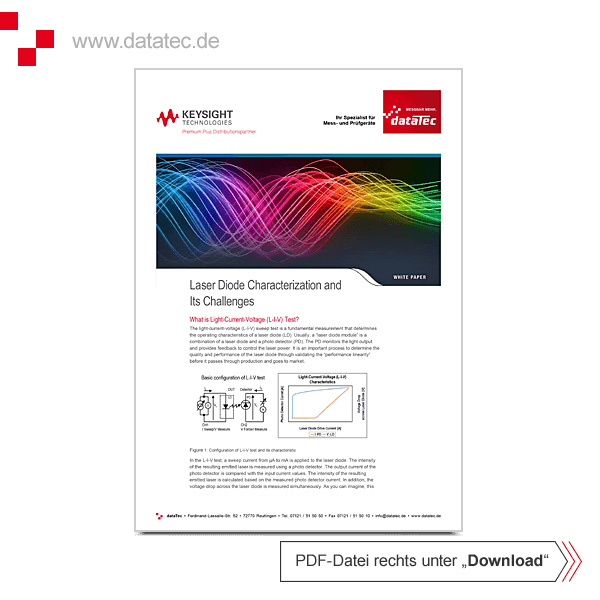 Application Note 5992-3166EN | Laser Diode Characterization and Its Challenges