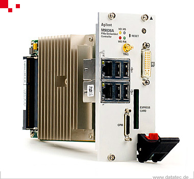M9036A | PXIe Embedded Controller: Dual Core, 4GB RAM, 160 SSD, 4 GB/s