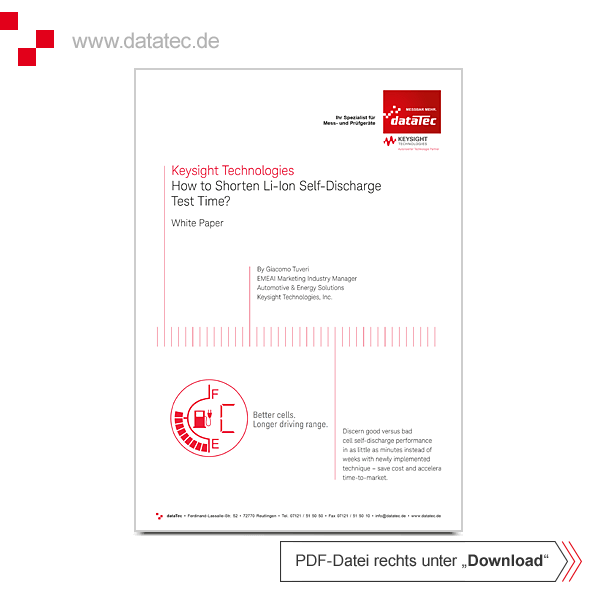 White Paper 5992-2770EN   How to Shorten Li-Ion Self-Discharge Test Time?